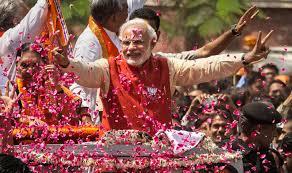 मोदी लहर में देश बहा, भाजपा अकेले 286 सीटो में आगे